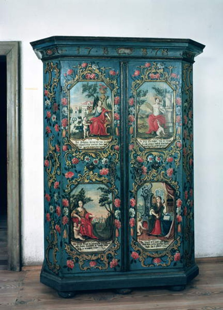 Detail of Wardrobe decorated with scenes of the four seasons, 1778 by German School