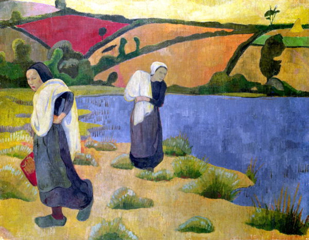 Detail of Washerwomen at the Laita River, near Pouldu by Paul Serusier