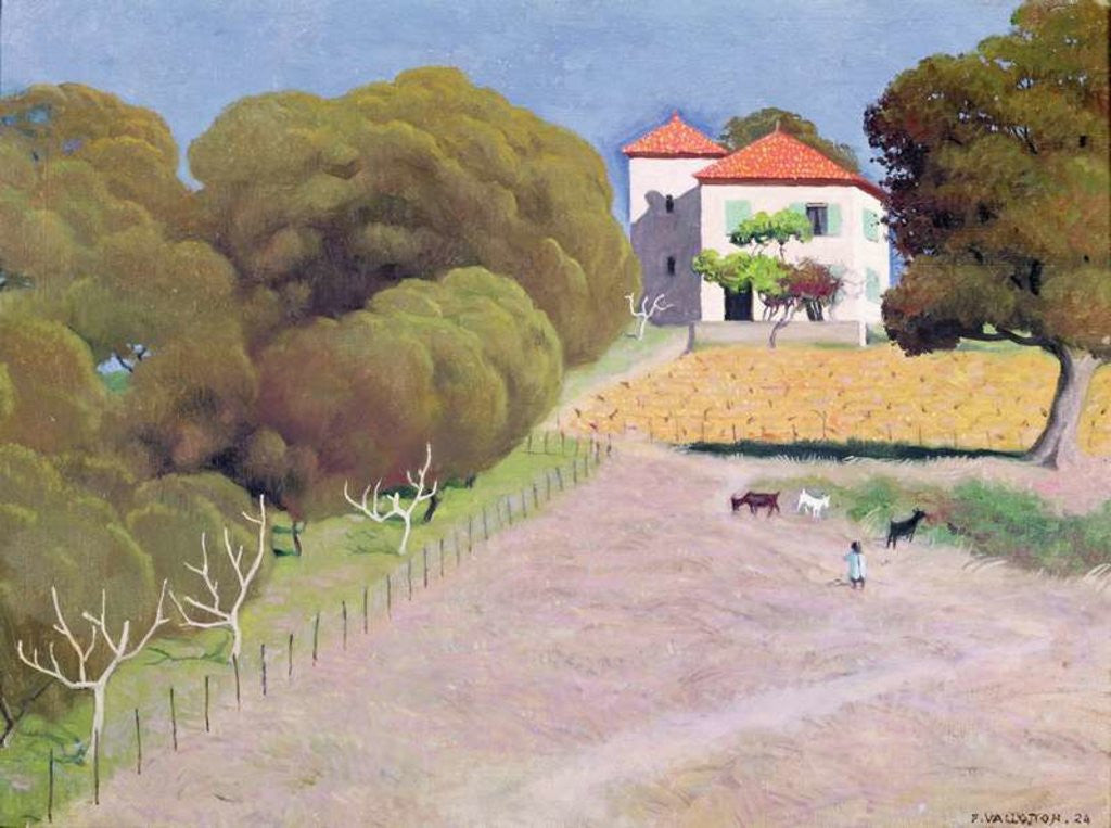 Detail of Landscape, The House with the Red Roof by Felix Edouard Vallotton