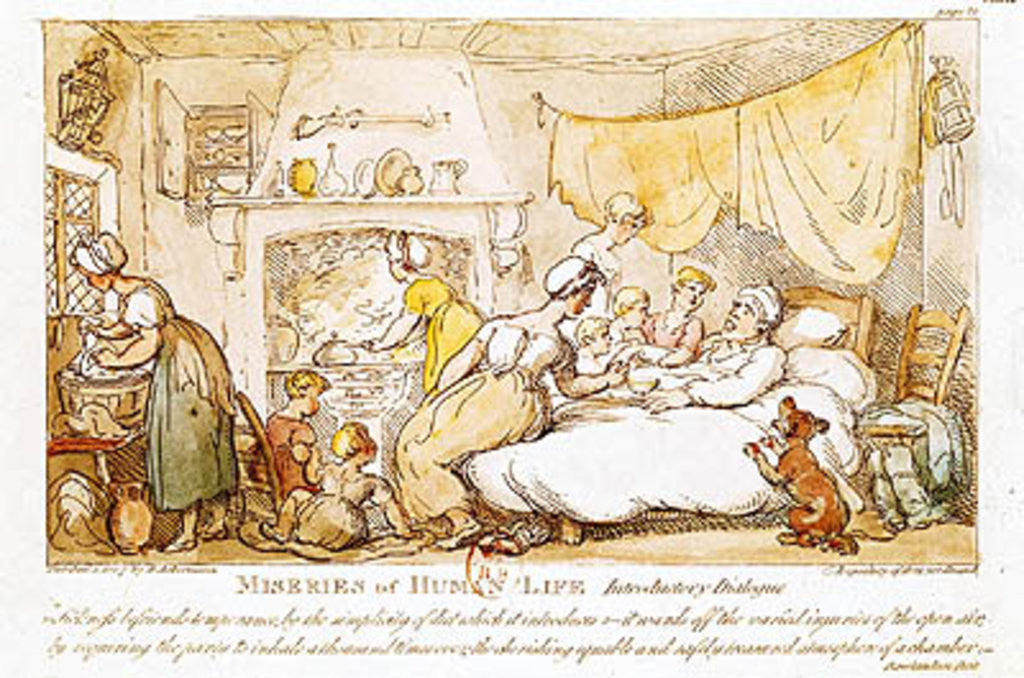 Miseries of human life introductory dialogue posters prints by detail of miseries of human life introductory dialogue by thomas rowlandson sciox Choice Image