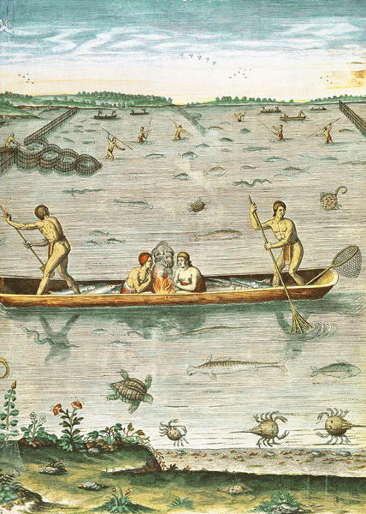Detail of How the Indians Catch their Fish by John White