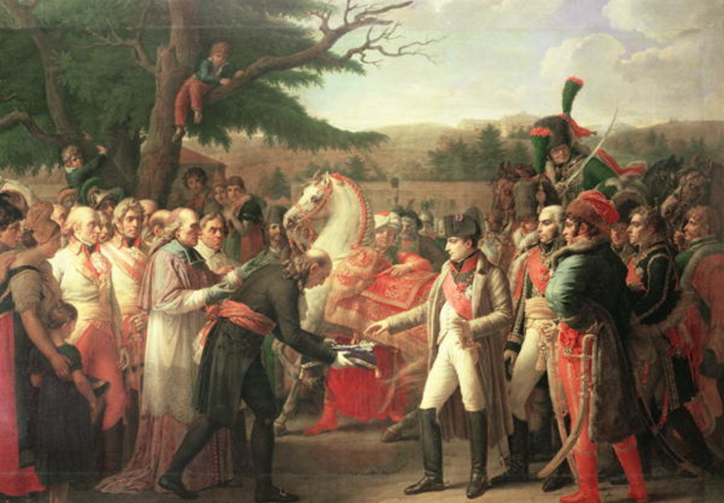 Detail of Napoleon Bonaparte Receiving the Keys of Vienna at the Schloss Schonbrunn by Anne Louis Girodet de Roucy-Trioson