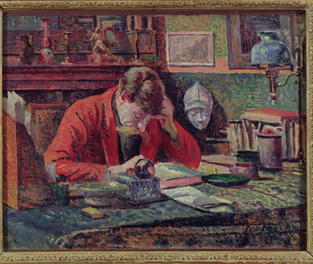 Detail of Emile Verhaeren in his Study by Maximilien Luce