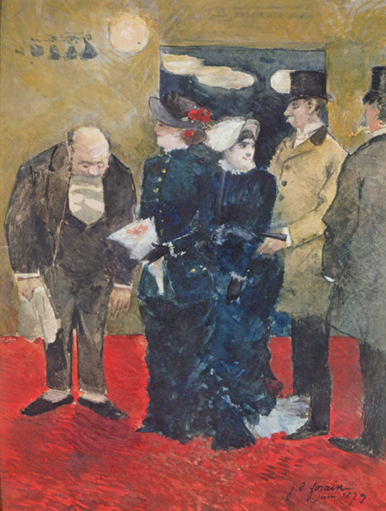 Detail of Entering the Restaurant by Jean Louis Forain