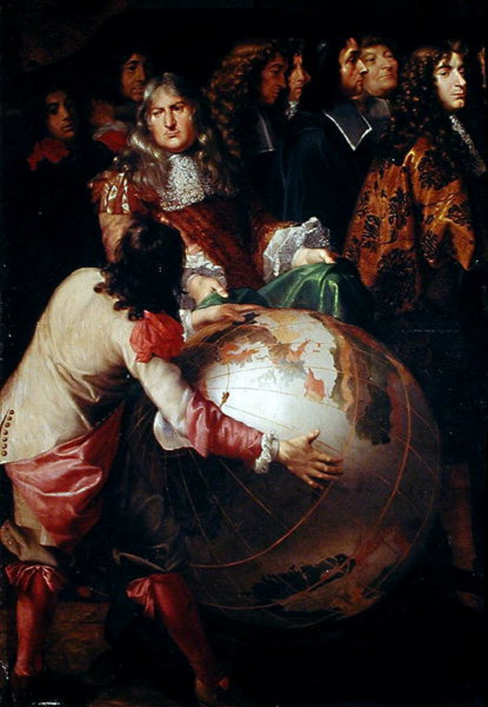 Detail of Jean-Baptiste Colbert Presenting the Members of the Royal Academy of Science to Louis XIV by Henri Testelin