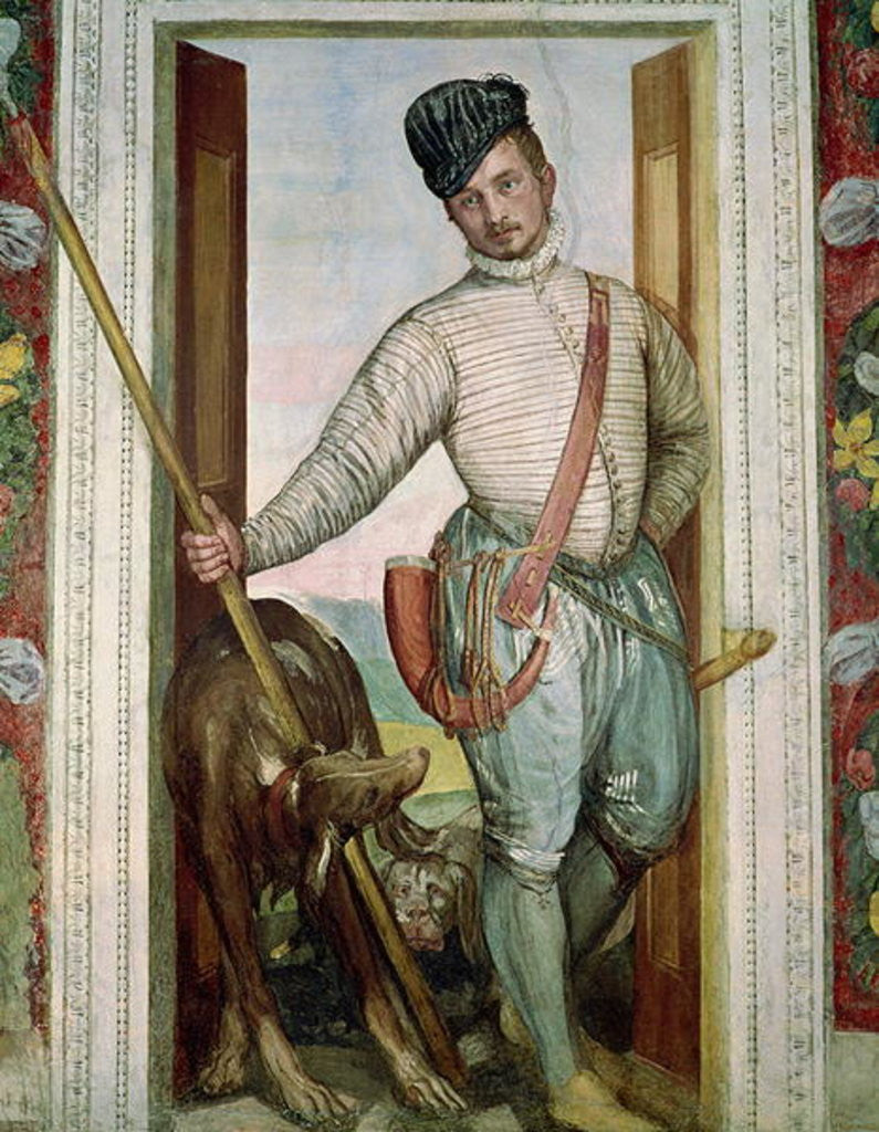 Detail of Self Portrait in Hunting Costume by Veronese