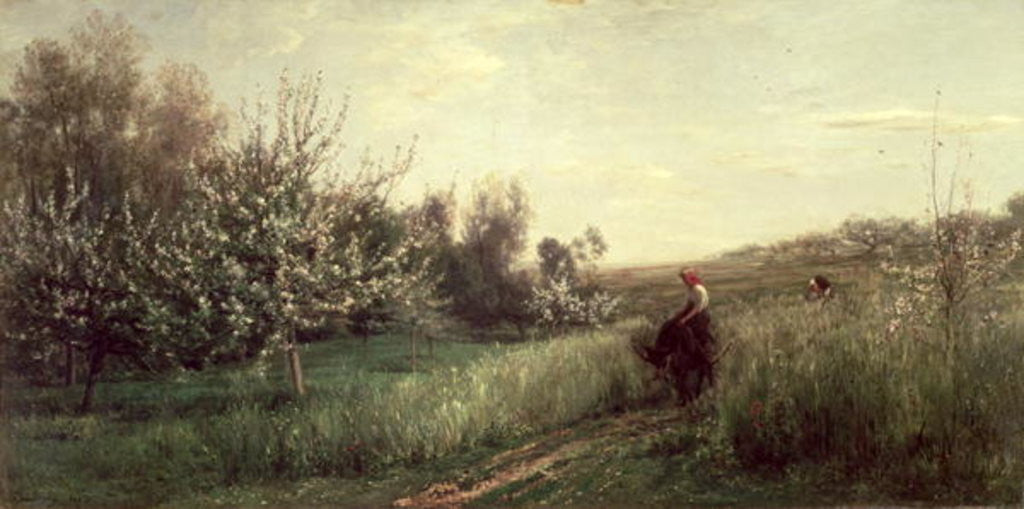 Detail of Spring by Charles Francois Daubigny