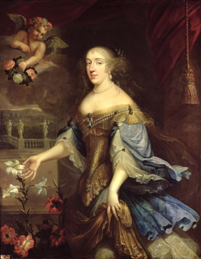 Detail of Anne-Marie-Louise d'Orleans Duchess of Montpensier by Pierre Mignard
