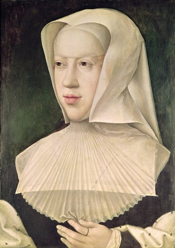 Detail of Marguerite de Habsbourg Duchess of Savoy by Bernard van Orley