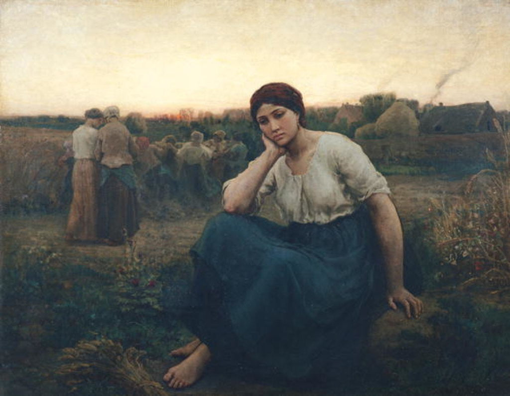 Detail of Evening by Jules Breton