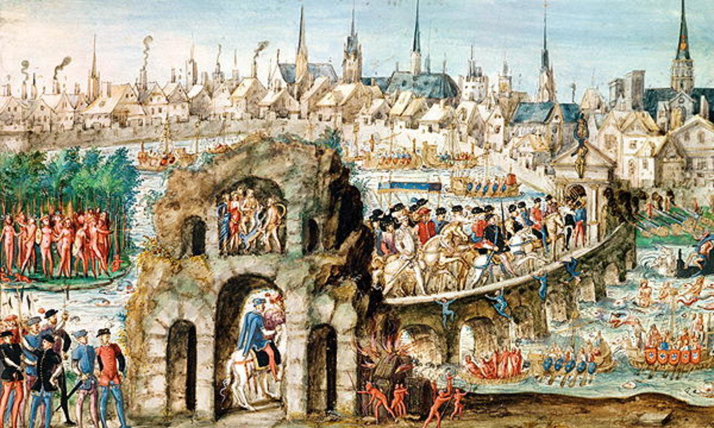 Detail of The Royal Entry Festival of Henri II into Rouen by French School