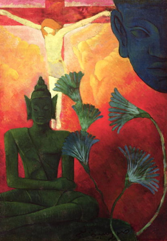 Detail of Christ and Buddha by Paul Ranson