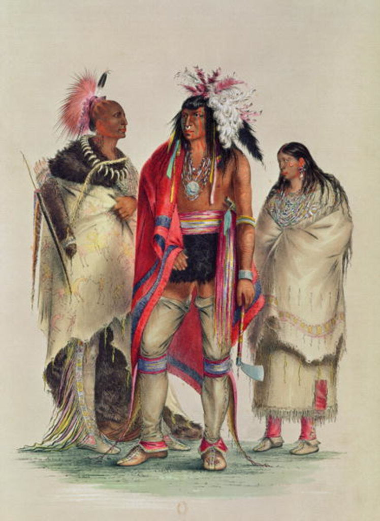 Detail of North American Indians by George Catlin