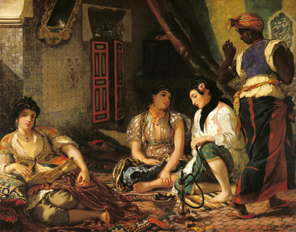 Detail of The Women of Algiers in their Apartment by Ferdinand Victor Eugene Delacroix