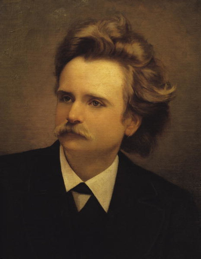 Detail of Edvard Hagerup Grieg by Italian School