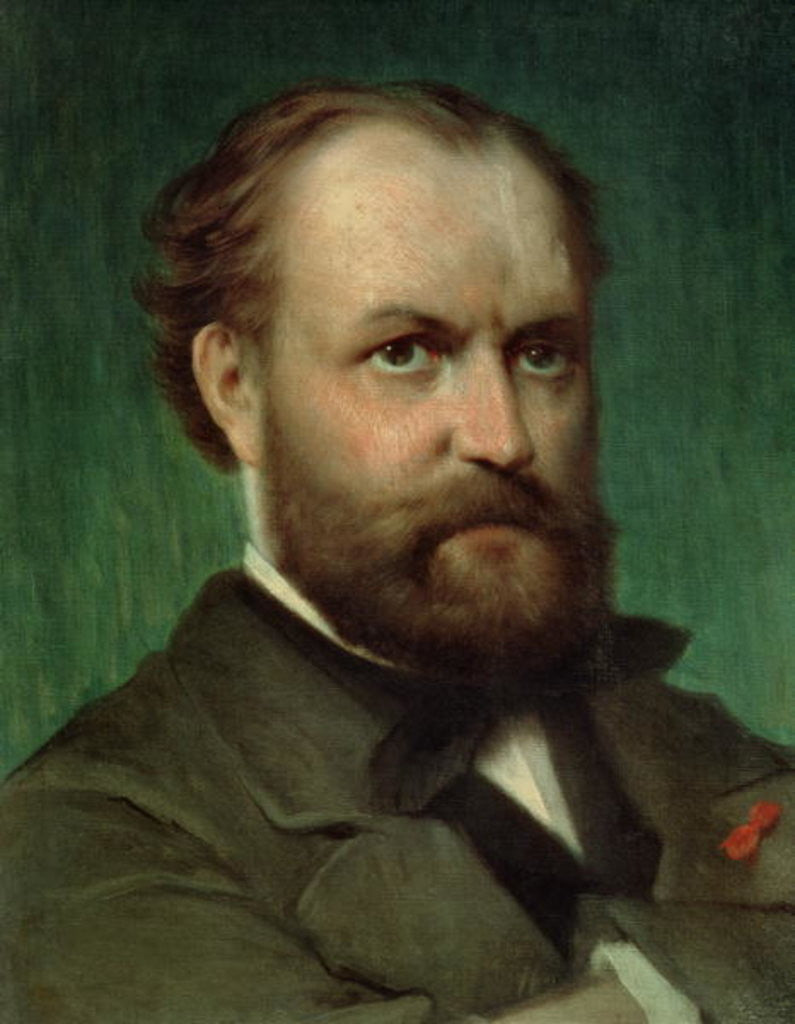 Detail of Portrait of Charles Gounod by French School