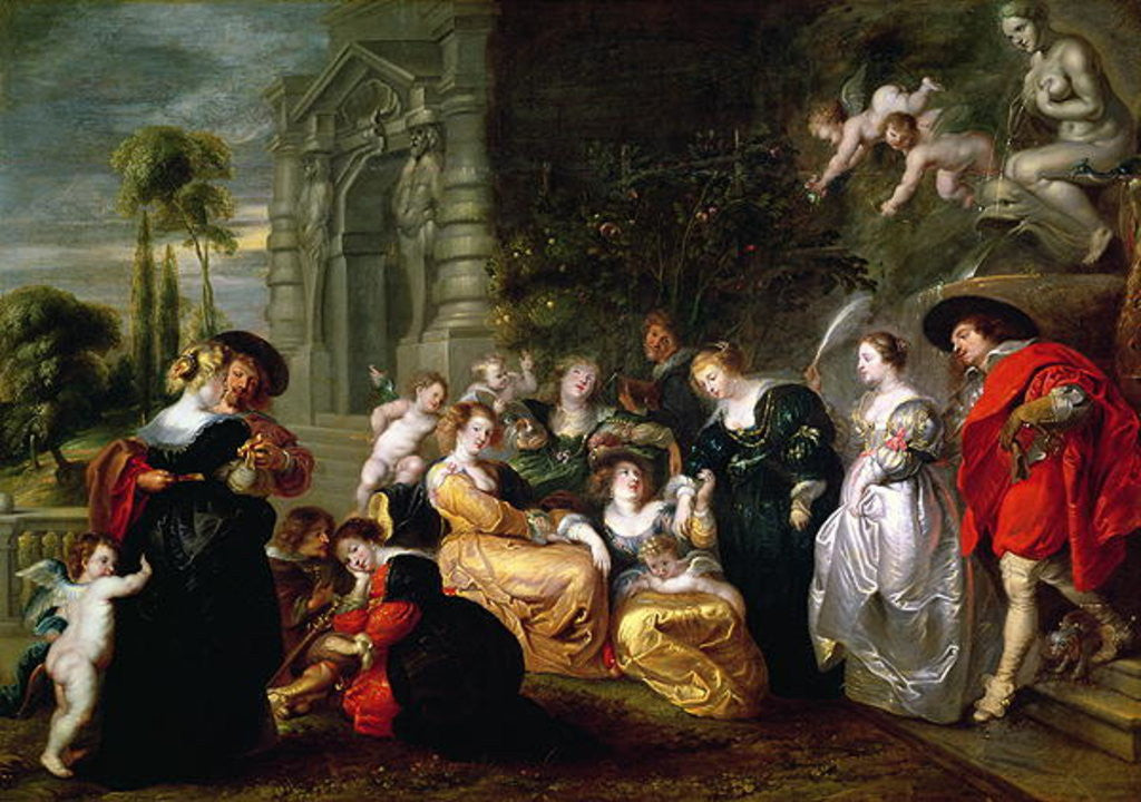 Detail of The Garden of Love by Peter Paul Rubens