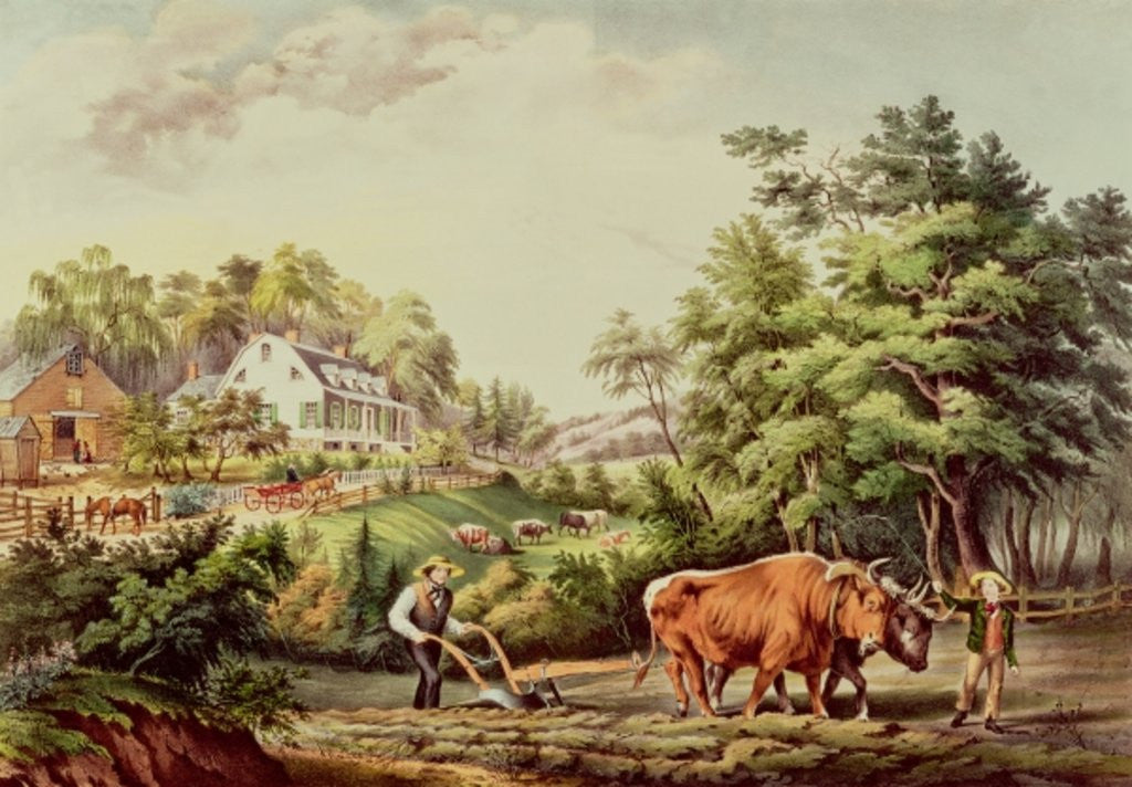 Detail of American Farm Scenes by Frances Flora Bond Palmer