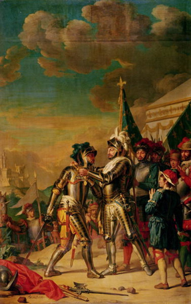 Detail of Henri II Giving the Chain of the Order of Saint-Michel to Gaspard de Saulx Count of Tavannes, after the Battle of Renty by Nicolas Guy Brenet
