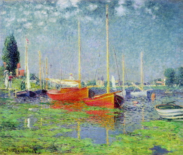 Detail of Argenteuil by Claude Monet