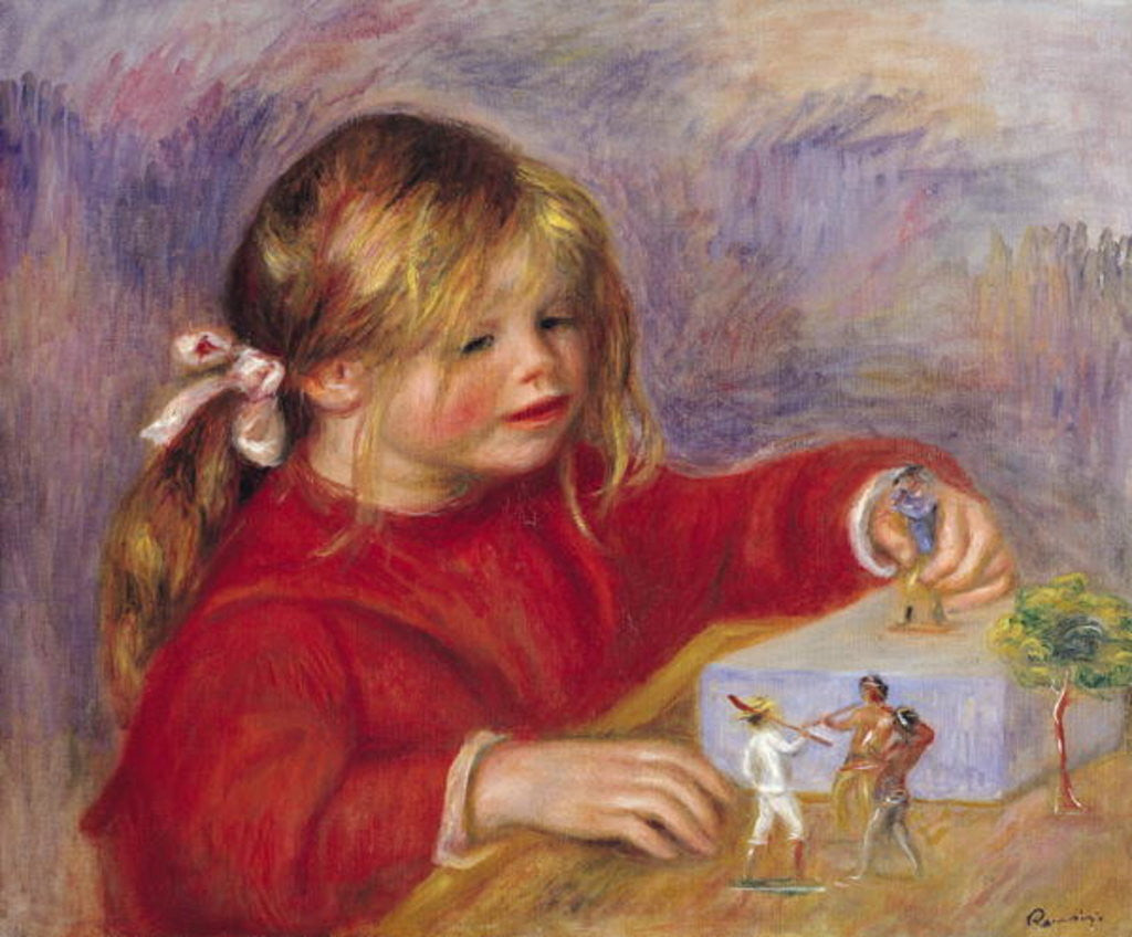 Detail of Claude Renoir at Play by Pierre Auguste Renoir