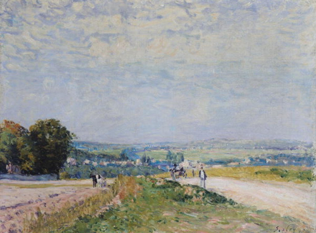 Detail of The Road to Montbuisson at Louveciennes by Alfred Sisley