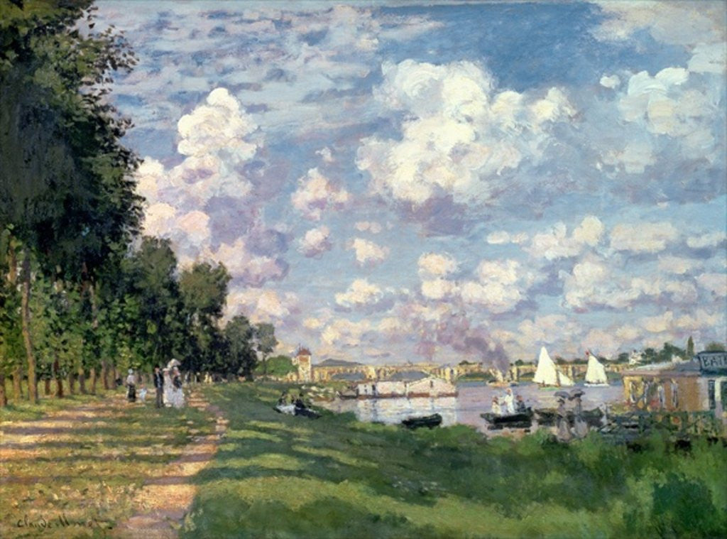 Detail of The Marina at Argenteuil by Claude Monet