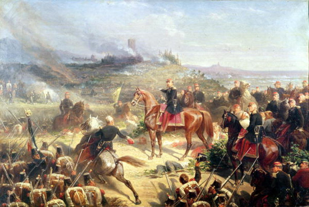 Detail of Battle of Solferino by Adolphe Yvon