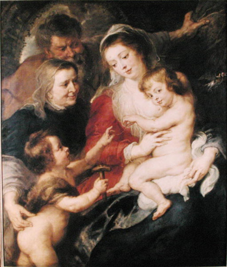 Detail of The Holy Family with St. Elizabeth and the Infant St. John the Baptist by Peter Paul Rubens