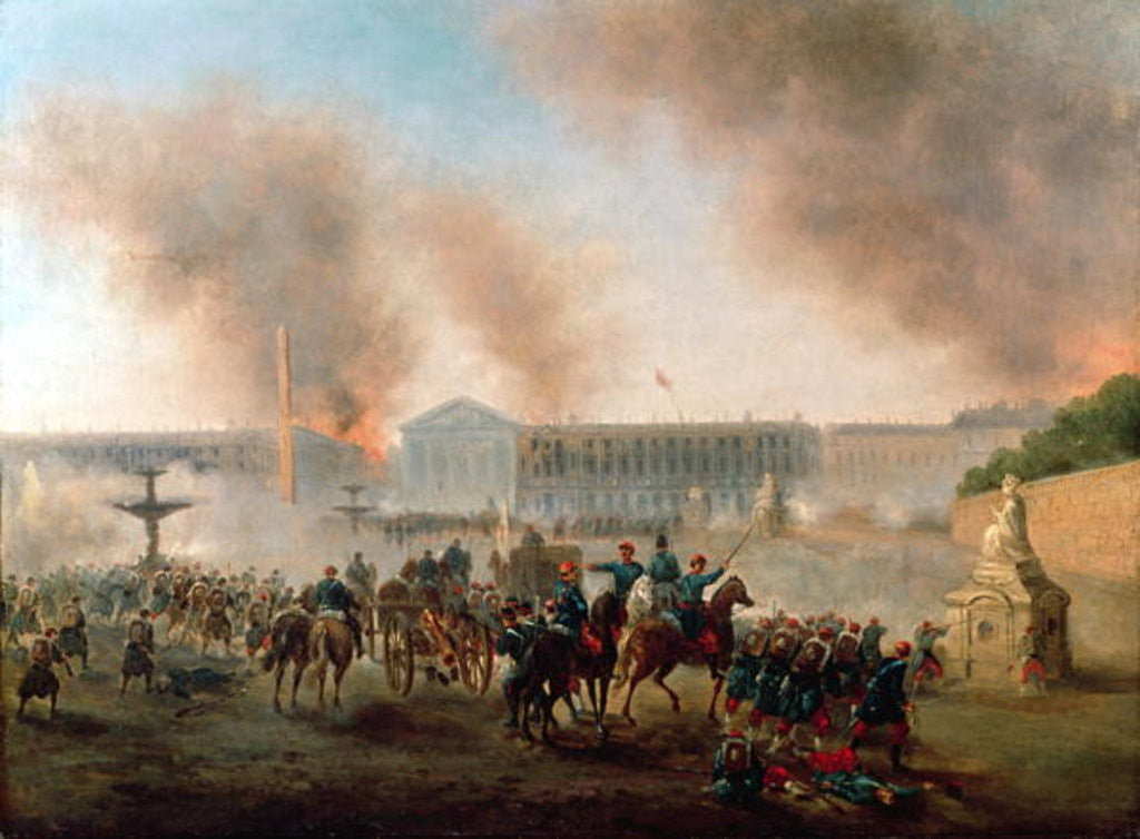Detail of Battle in the Place de la Concorde by Gustave Clarence Rodolphe Boulanger