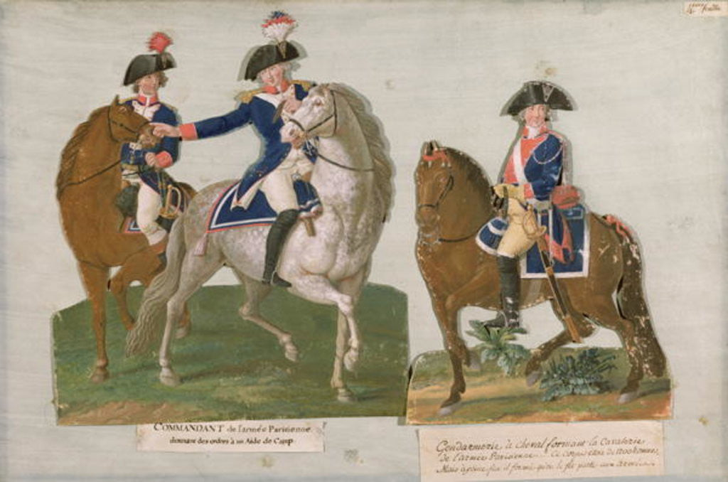 Detail of Army Commander and an Officer of the Mounted Police by Lesueur Brothers