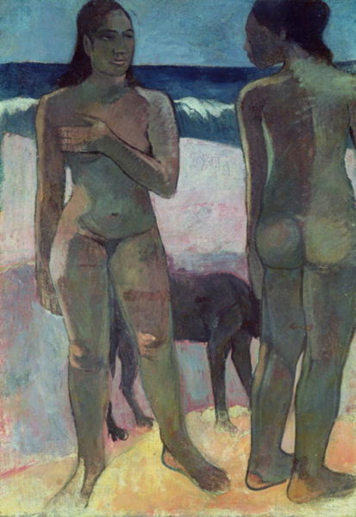 Detail of Two Tahitian Women on the Beach by Paul Gauguin