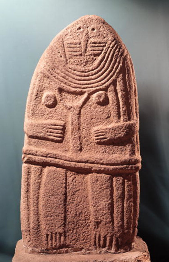 Detail of Menhir statue no.4 by Prehistoric
