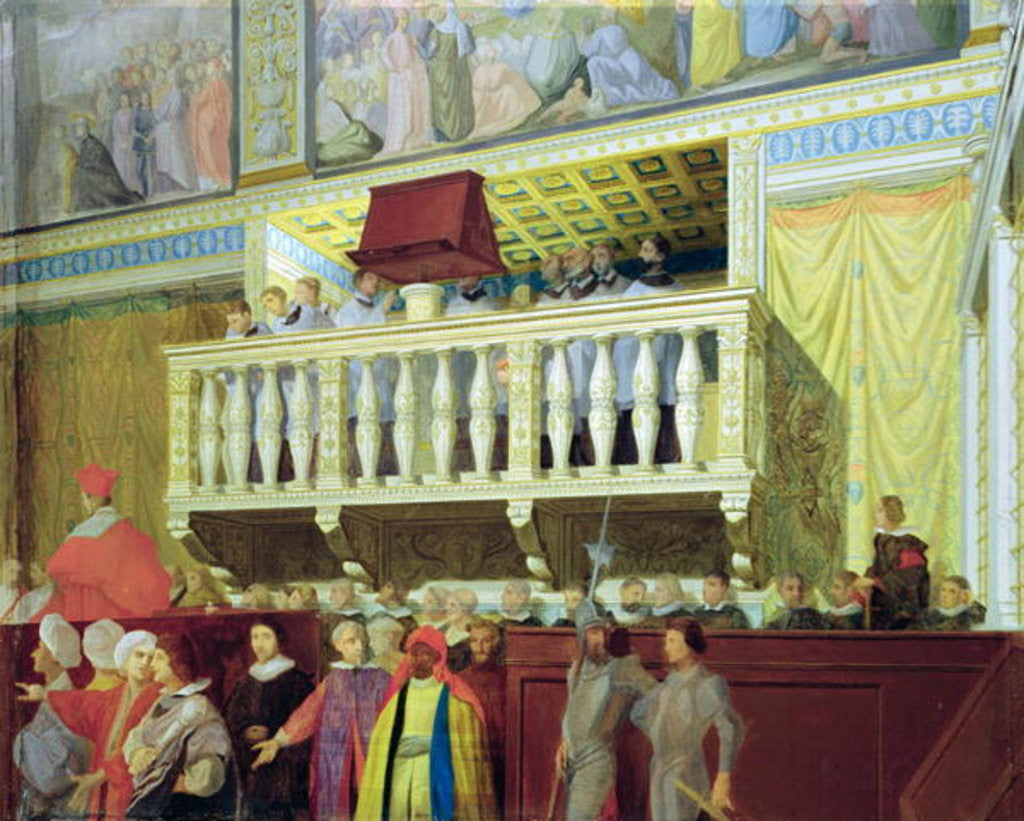 Detail of Cantoria in the Sistine Chapel by Jean Auguste Dominique Ingres