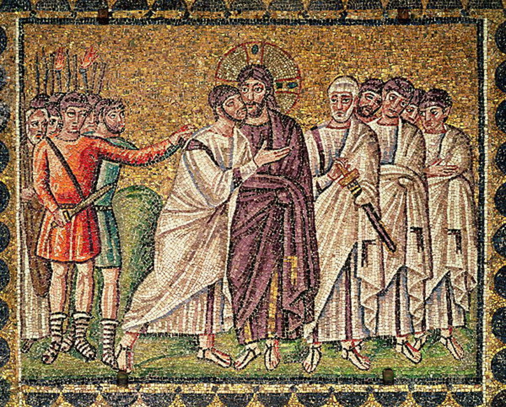 Detail of The Kiss of Judas, Scenes from the Life of Christ by Byzantine School