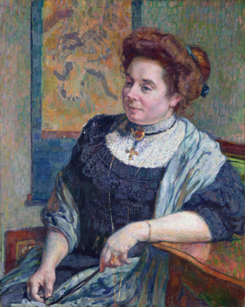 Detail of Madame Maurice Denis by Theo van Rysselberghe