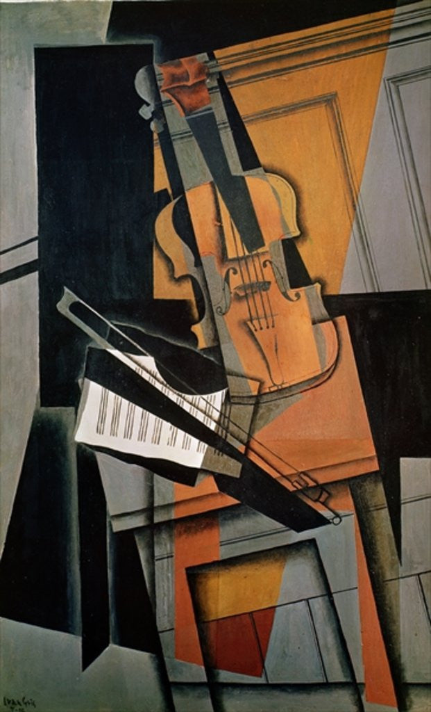 Detail of The Violin by Juan Gris