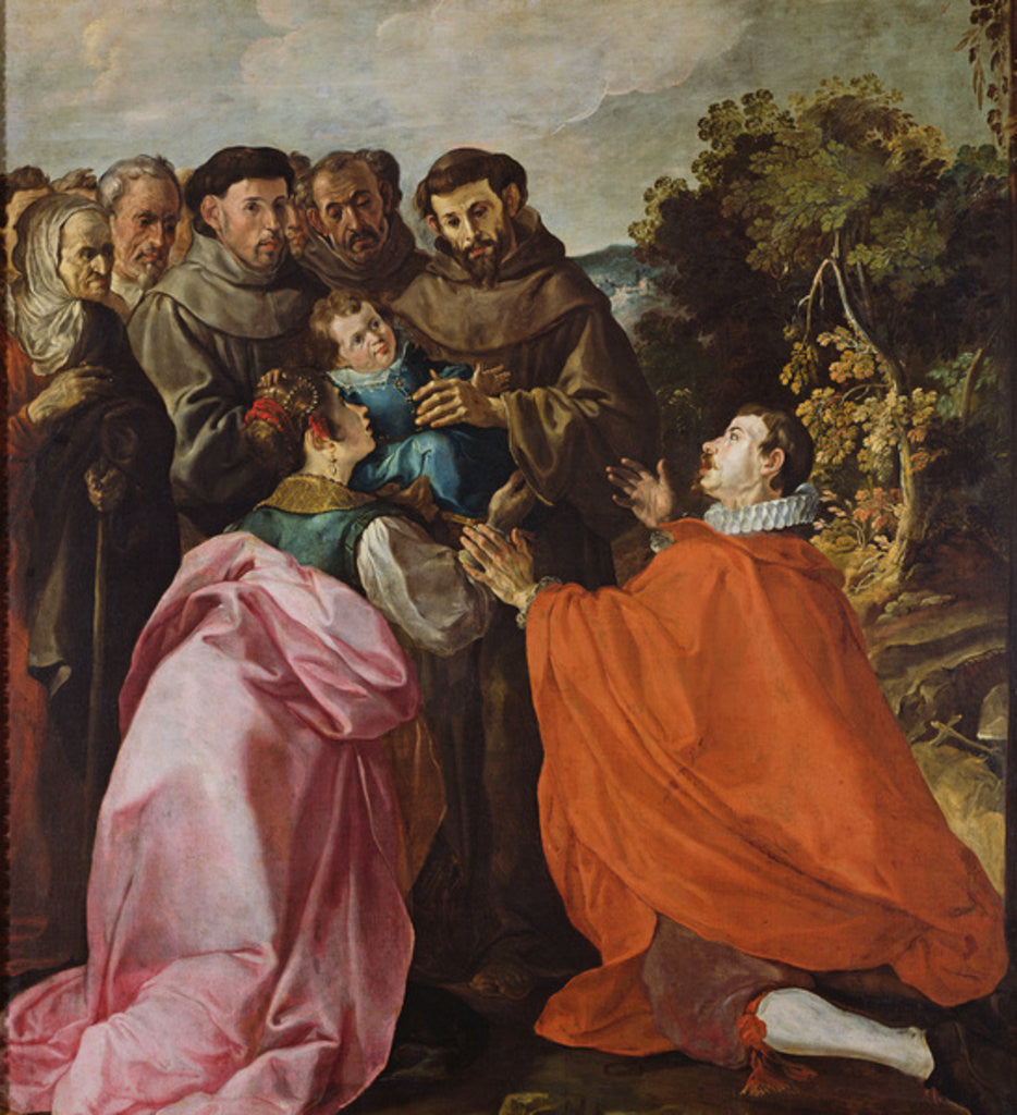 Detail of Healing of St. Bonaventure by St. Francis of Assisi by Francisco Herrera