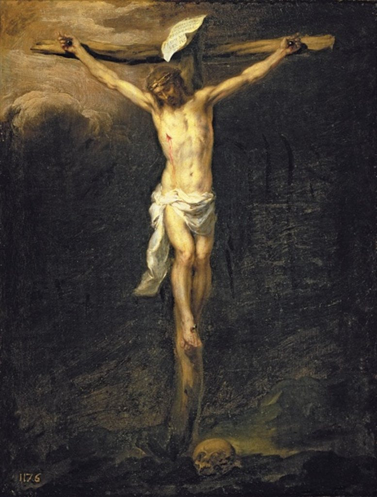 Detail of Christ on the Cross by Bartolome Esteban Murillo