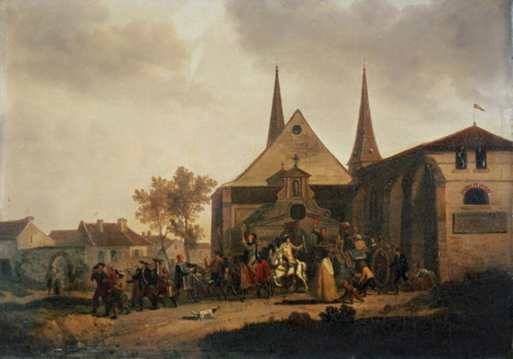 Detail of Pillage of a Church during the Revolution by Jacques Francois Joseph Swebach