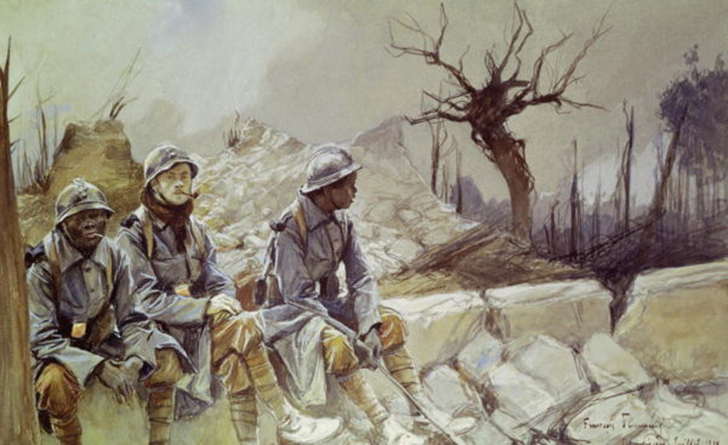 Detail of Dampierre, July 1916 by Francois Flameng