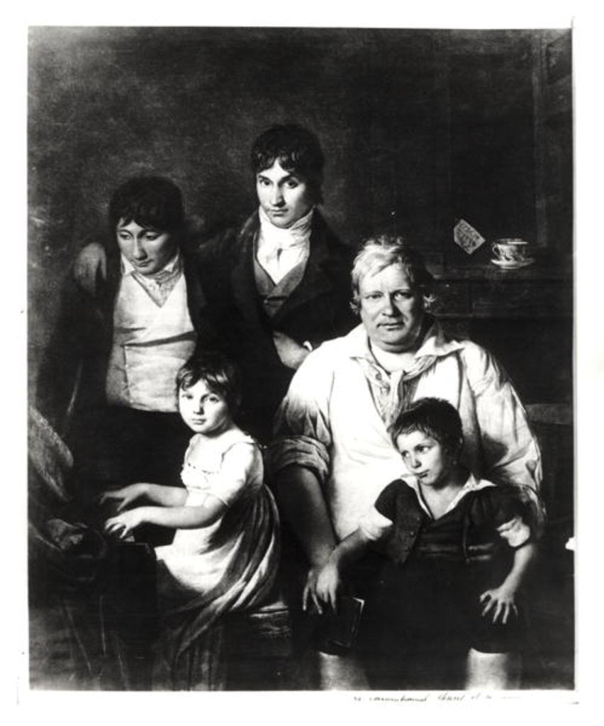 Detail of Family Portrait, formerly known as Michel Gerard member of the Convention, with his Family by Jacques Louis David