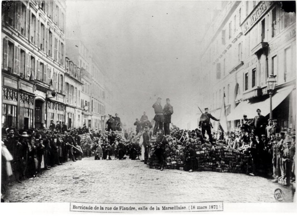 Detail of Barricade in the Rue de Flandre, during the Commune of Paris by French Photographer