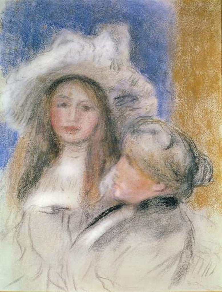 Berthe Morisot and her Daughter Julie Manet by Pierre Auguste Renoir