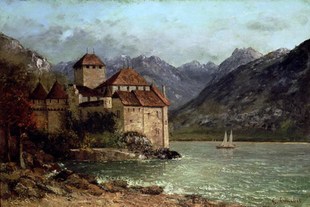 Detail of The Chateau de Chillon by Gustave Courbet