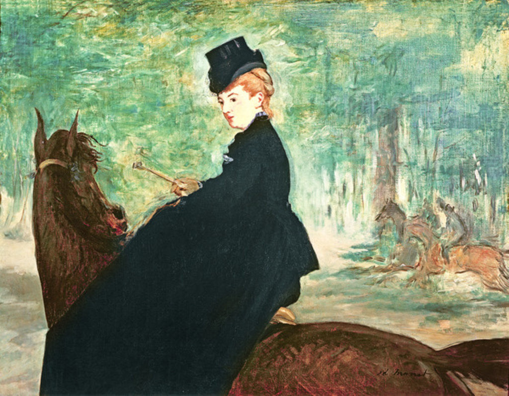Detail of The Horsewoman by Edouard Manet