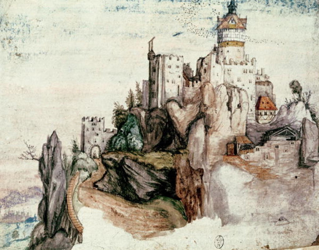 Detail of Fortified Castle by Albrecht Durer or Duerer