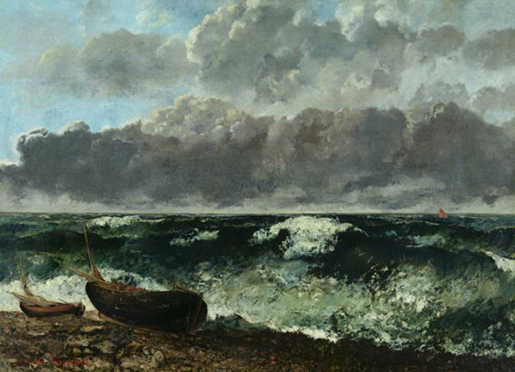 Detail of The Stormy Sea or, The Wave by Gustave Courbet