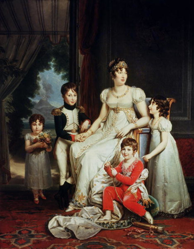 Detail of Caroline Bonaparte and her Children by Francois Pascal Simon