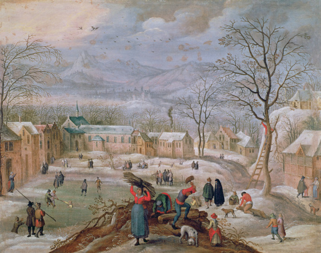 Detail of Winter by Flemish School
